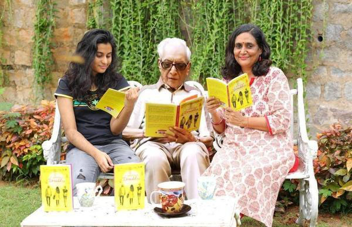 Ishika Ranjan, Bishan Sahai and Ruchi Ranjan at the release of their book 'Our World A Symphony of Drabbles - by Three Generations'