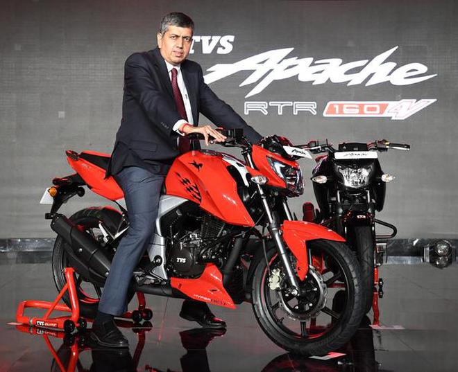 tvs motor launches new apache the hindu