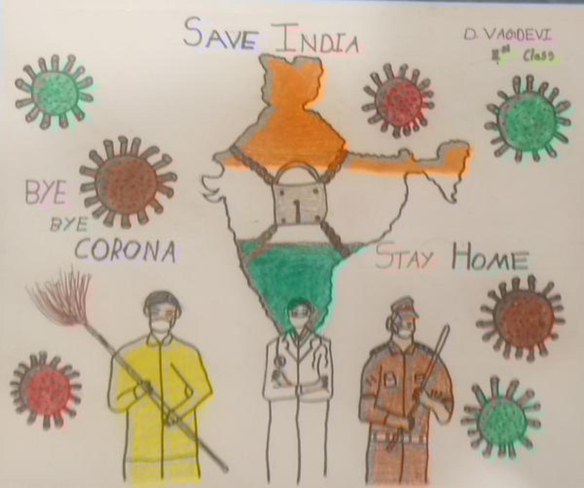 Https Www Thehindu Com Children Drawings From India In The Times Of Covid 19 Lockdown Article31377328 Ece The Hindu Gallery 1