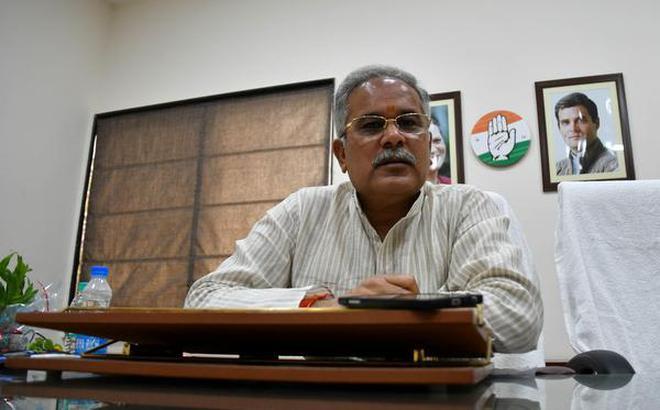 Bhupesh Baghel, President Chhattisgarh Pradesh Congress Committee. seen during a interview in Chhattisgarh on Saturday.