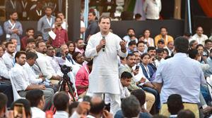 Rahul Gandhi sets a brisk pace, takes up the slack