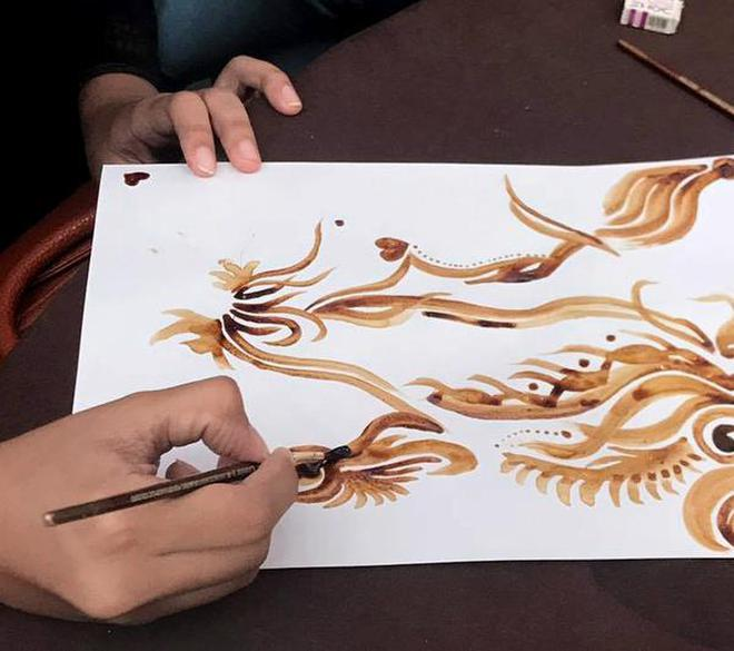 Preview hobbmobs art of coffee painting 20 at jxtapose by rajvi coffee musings on paper prinsesfo Choice Image