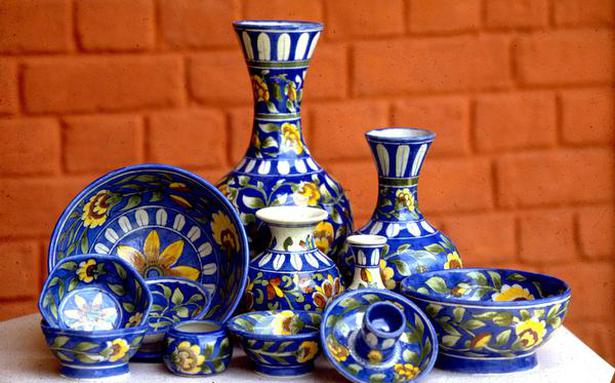 Discarded sinks find new life as Jaipur Blue Pottery