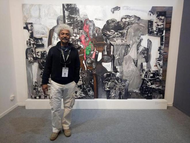 Multifaceted: Probir Gupta with his installation
