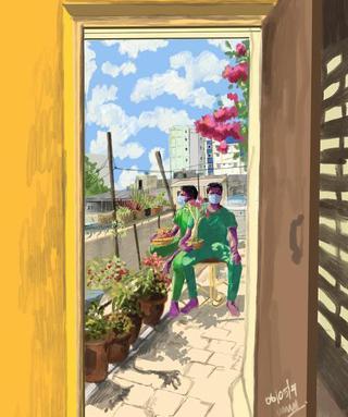 Artist Bala Govind Kumar documents his days of isolation through art