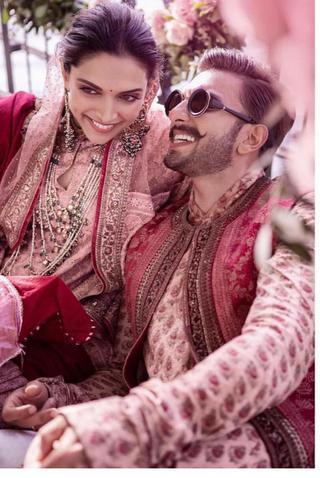 Deepika Padukone and Ranveer Singh at the mehendi ceremony