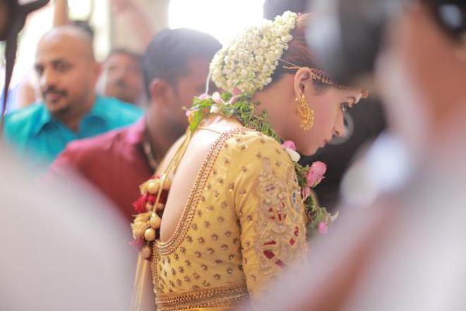 Actor Bhavanas Wedding Ensemble A Golden Affair The Hindu