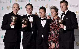 Three Billboards tops Baftas as #Time'sUp shares stage