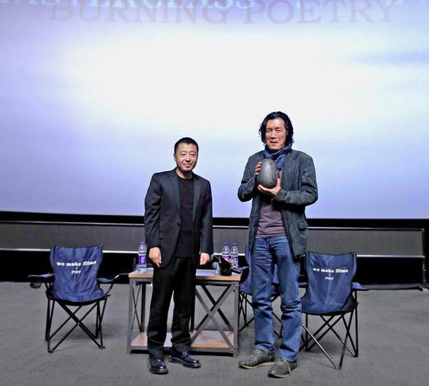 Jia Zhangke (left) and Lee Chang-Dong. Photo: Special arrangement