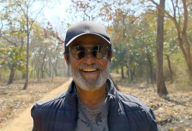 Rajinikanth gearing up for the day at Bandipur Tiger Reserve