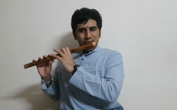 The Hindu Margazhi Classical Music Competition: Adithyaram Gundala, first prize in Flute, 20-40 years