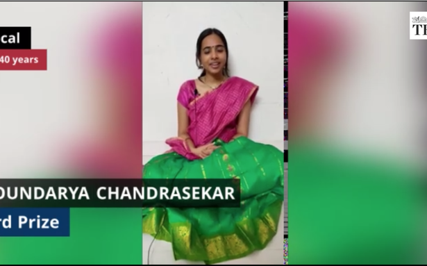 The Hindu Margazhi Classical Music Competition: Soundarya Chandrasekar, third prize in Vocal, 20-40 years