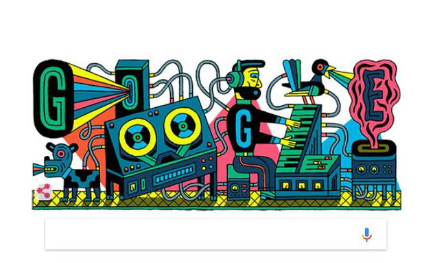 Google celebrates first ever studio for electronic music with a doodle