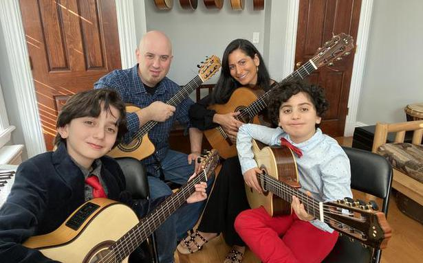 Daily jam sessions of Quarantined Quartet, a New York-based family of guitarists, have fans world wide