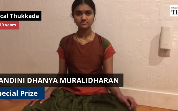 The Hindu Margazhi Classical Music Competition: Nandini Dhanya Muralidharan, special prize in Vocal, 13-19 years