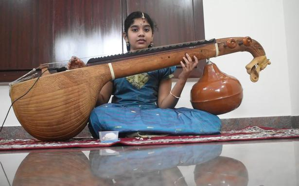 The Hindu Margazhi Classical Music Competition: S.Logashree, first prize in Veena, 0 to 12 years