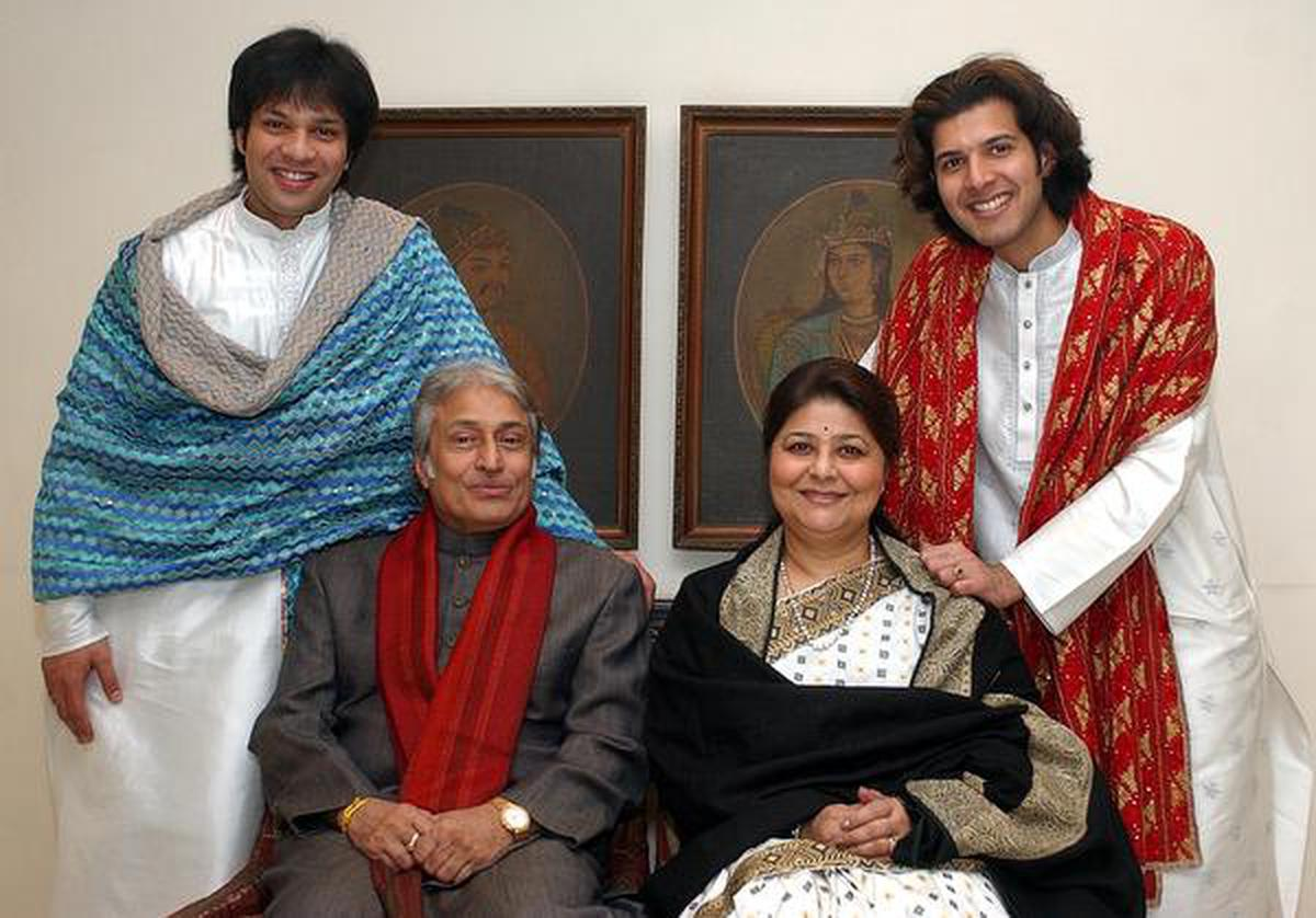 Ustad Amjad Ali Khan with family Photo: R.V. Moorthy