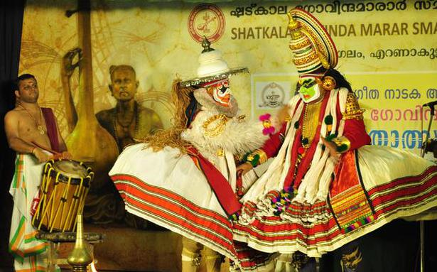 Music and dance performances at a festival in the name of Shadkala Govinda Marar
