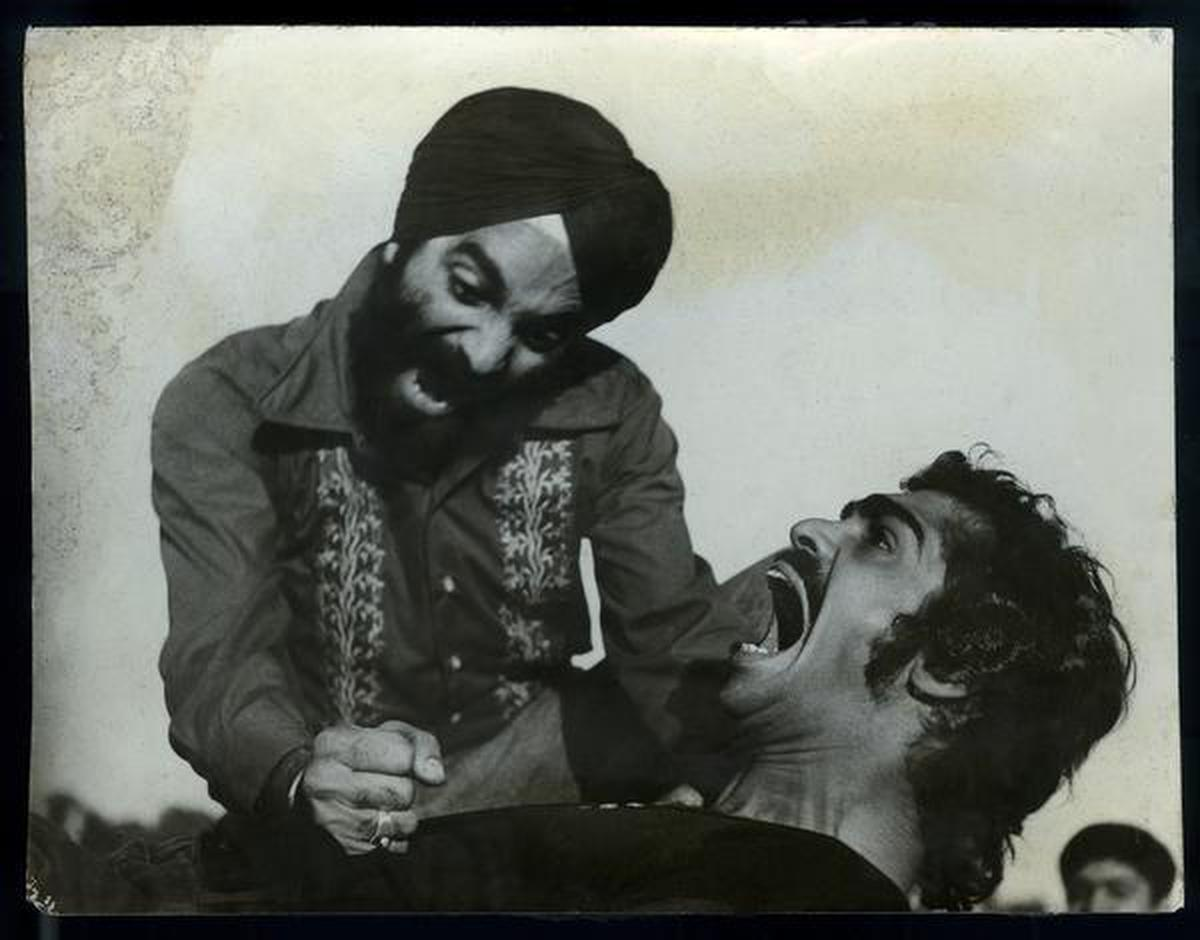 A scene from Gurcharan Singh Channi's play Disturbed Area