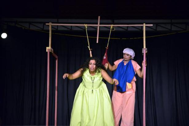A scene from Nireeksha Women's Theatre's untitled play