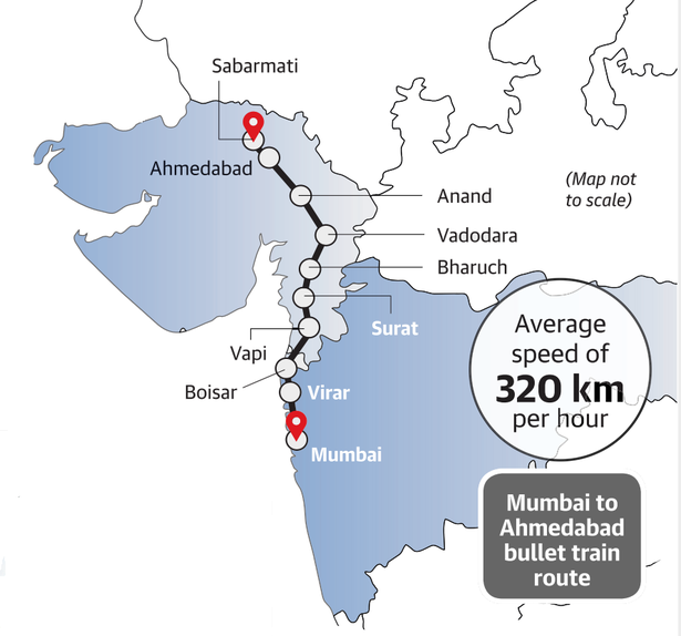 Need For Speed Lowdown On Indias Bullet Train Project The Hindu - Japan map bullet train