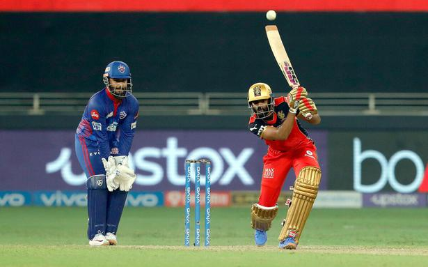 IPL 2021   Last-ball six by K.S. Bharat gives Royal Challengers Bangalore 7-wicket win over Delhi Capitals