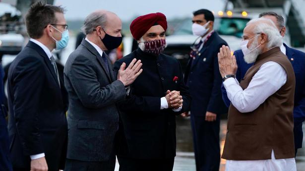 PM Modi in U.S. live updates | Modi arrives in Washington, to meet global CEOs today