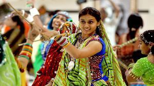 Thiruvananthapuram is gripped with Dandiya fever