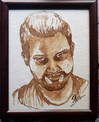 Suvindas E's coffee painting