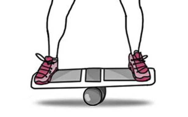 How to use the balance board to improve stability
