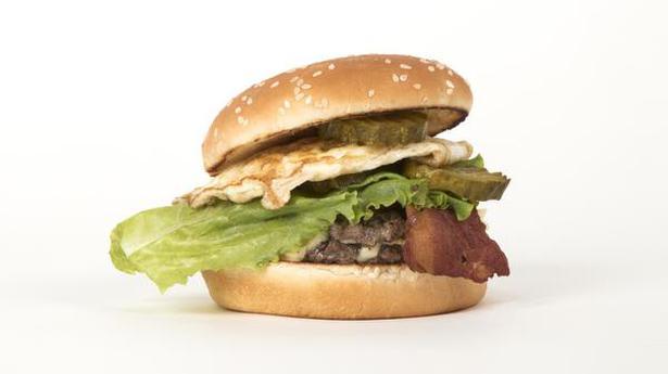 Blue cheese in a burger at Burgerama