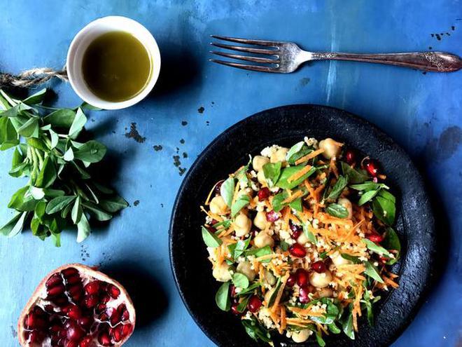 Nandita iyer on her book the everyday healthy vegetarian the hindu millet and fenugreek salad forumfinder Images