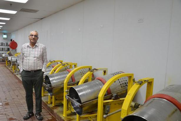 Mani Krishnan at the facility