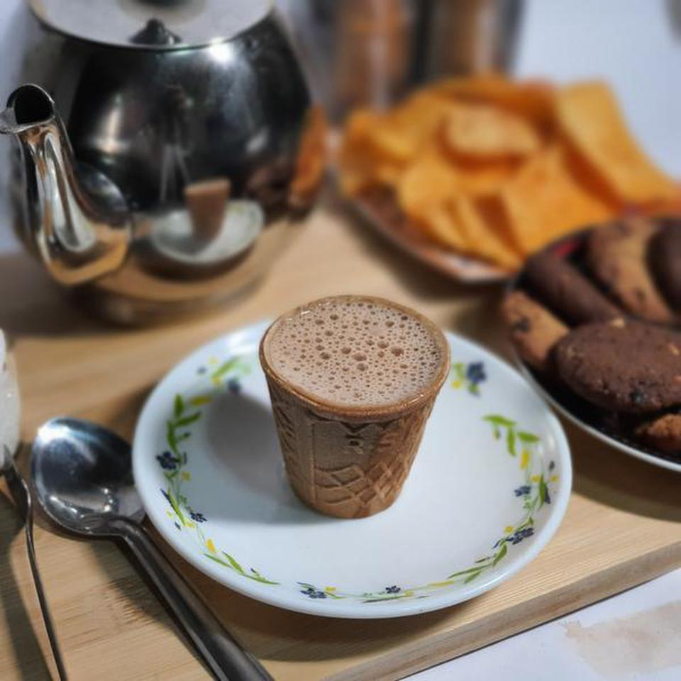 Biscuit tea cup by RS Pathy Naturo in Madurai