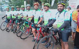A cycle ride through the art and craft villages in 10 districts of Kerala has been flagged off from the capital city