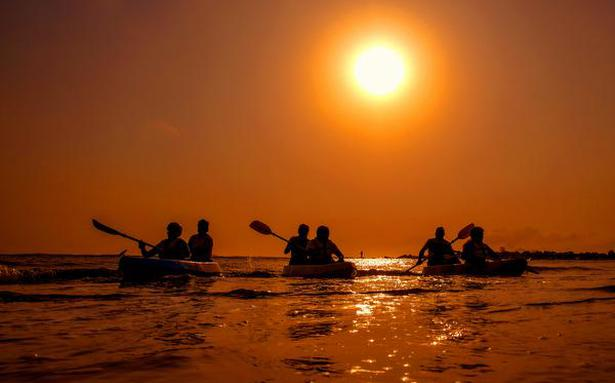 Visakhapatnam coast is buzzing with water-sports activities after months of hiatus