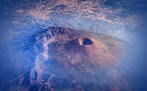 Fiery trip to Mount Etna, an active volcano