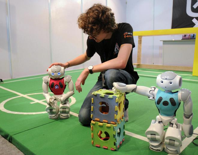 Robotics Virtual Betting At Iit Techfest The Hindu