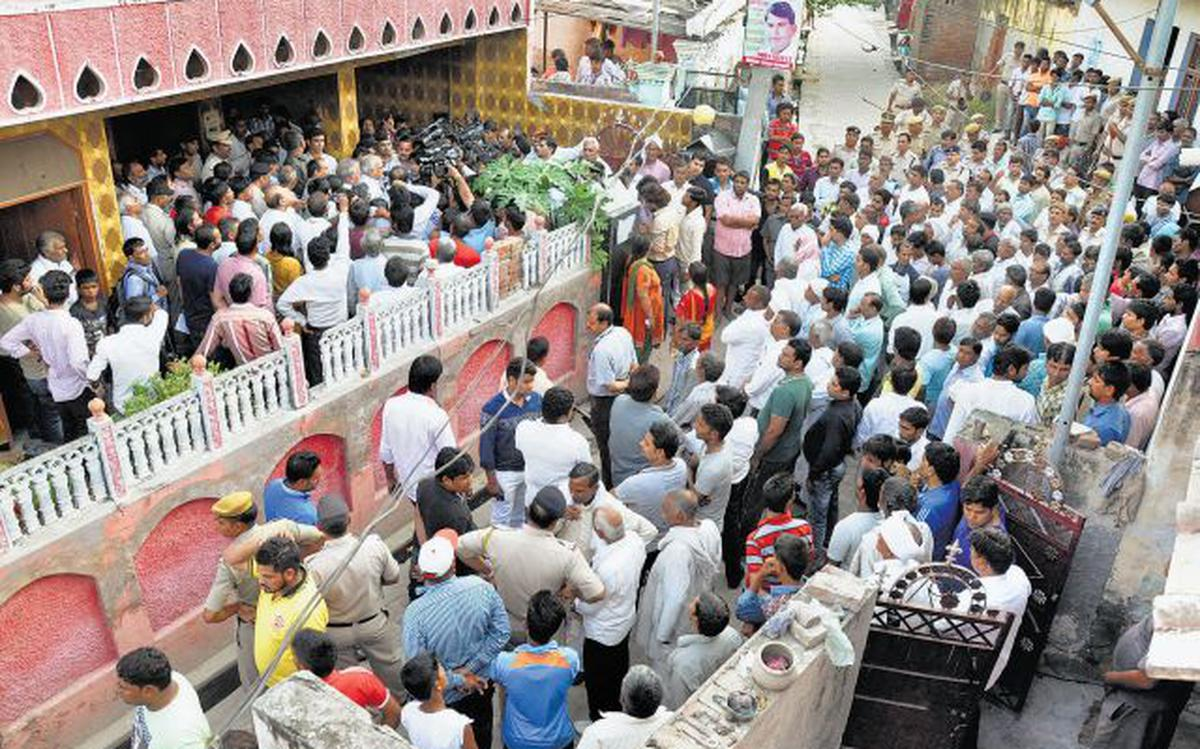 Scuffle over mobile triggered caste war in Faridabad - The Hindu