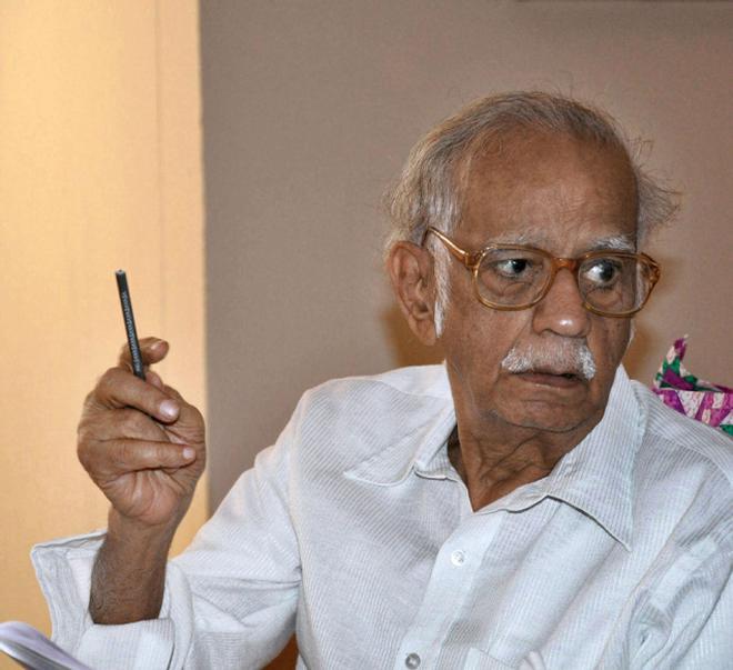 Iravatham Mahadevan. Photo: KV. Poornachandra Kumar