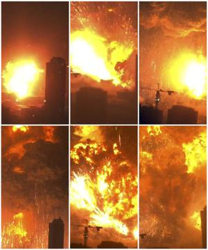 tianjin explosion video