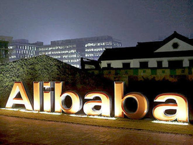 9c7a7ebdef14e1 The logo of Alibaba Group inside the company s headquarters in Hangzhou
