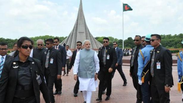 modi starts bangladesh tour with homage to 1971 martyrs the hindu. Black Bedroom Furniture Sets. Home Design Ideas