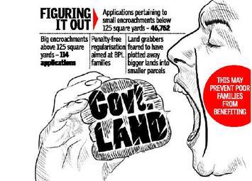 Officials see a big plot behind small plots - The Hindu