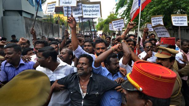 Agitation still rocks Puducherry on Ashram issue - The Hindu