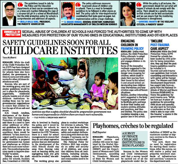 Safety guidelines for all childcare institutions soon - The