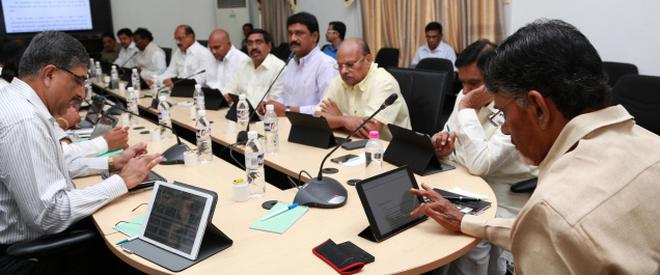 Image result for chandra babu cabinet meeting