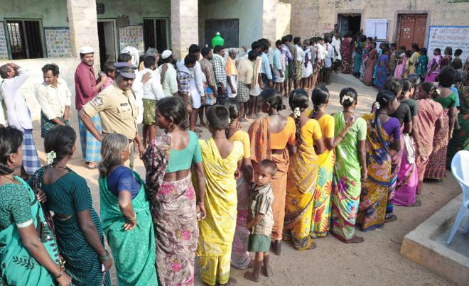 polling stopped due to mistakes in ballot papers the hindu