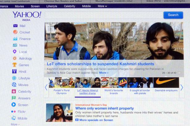 Yahoo! looks to regain ground in India with new homepage