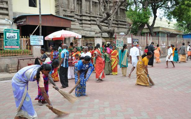 Grand Prix Driving School >> Clean-up drive on Chithirai streets - The Hindu